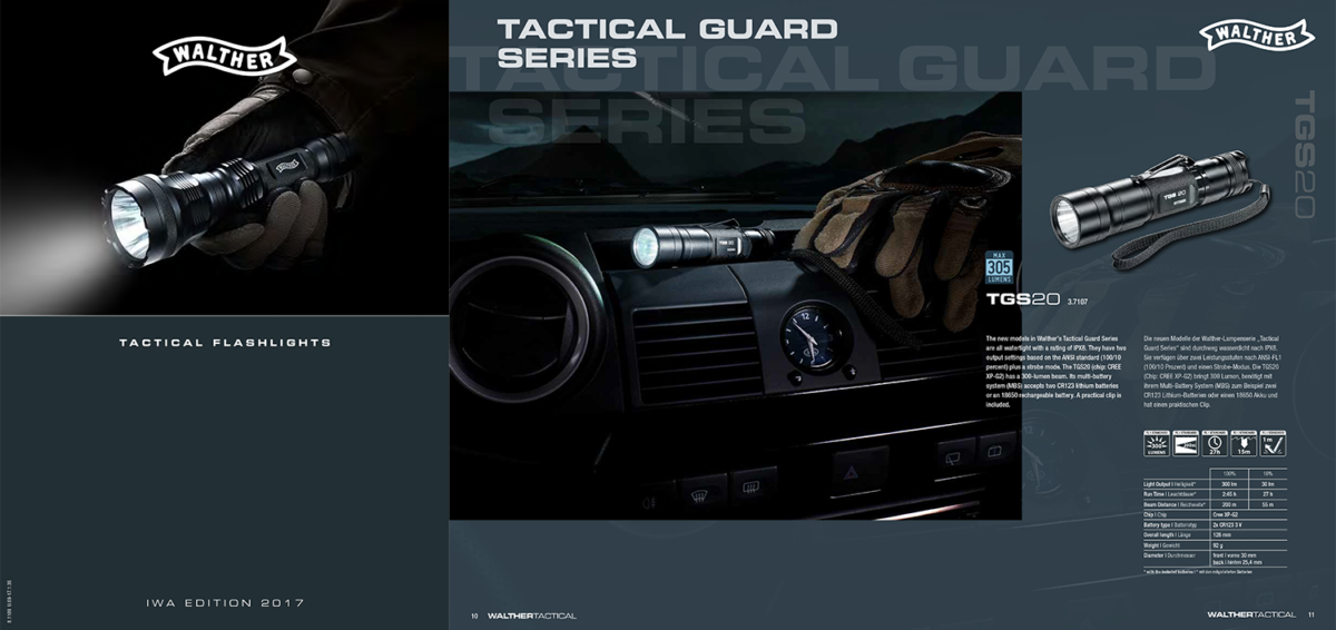 Walther Tactical Lights Catalogue 2017