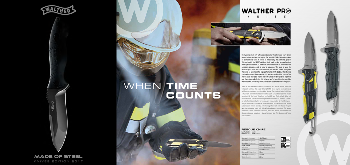 Walther Pro Knives Catalogue 2017