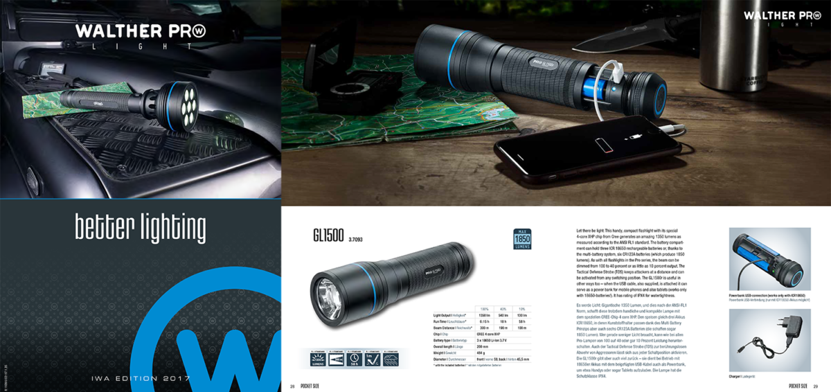 Walther Pro Lights Catalogue 2017