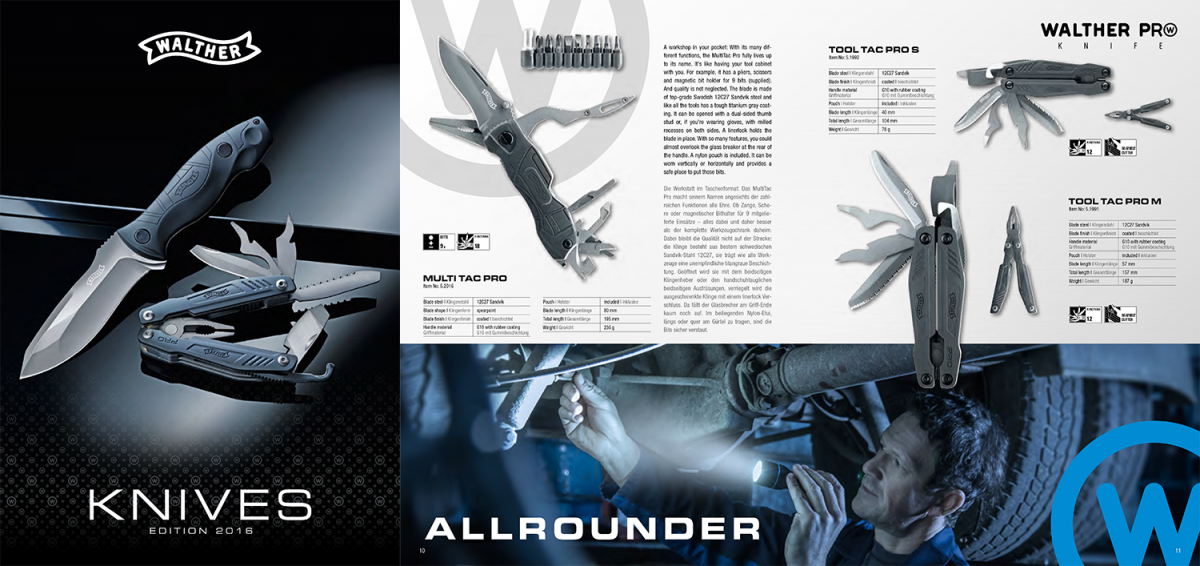 Walther Knives Catalogue 2016