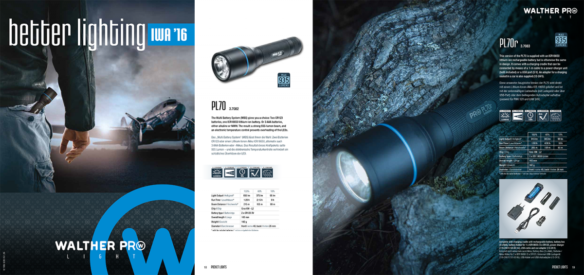 Walther Lights Catalogue 2016