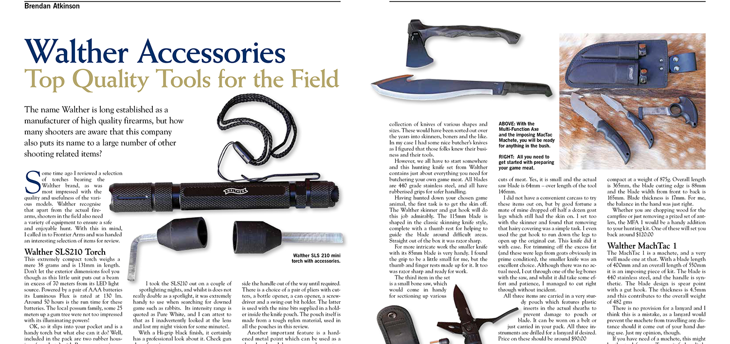 Walther SLS210 and tools review in Guns Australia magazine