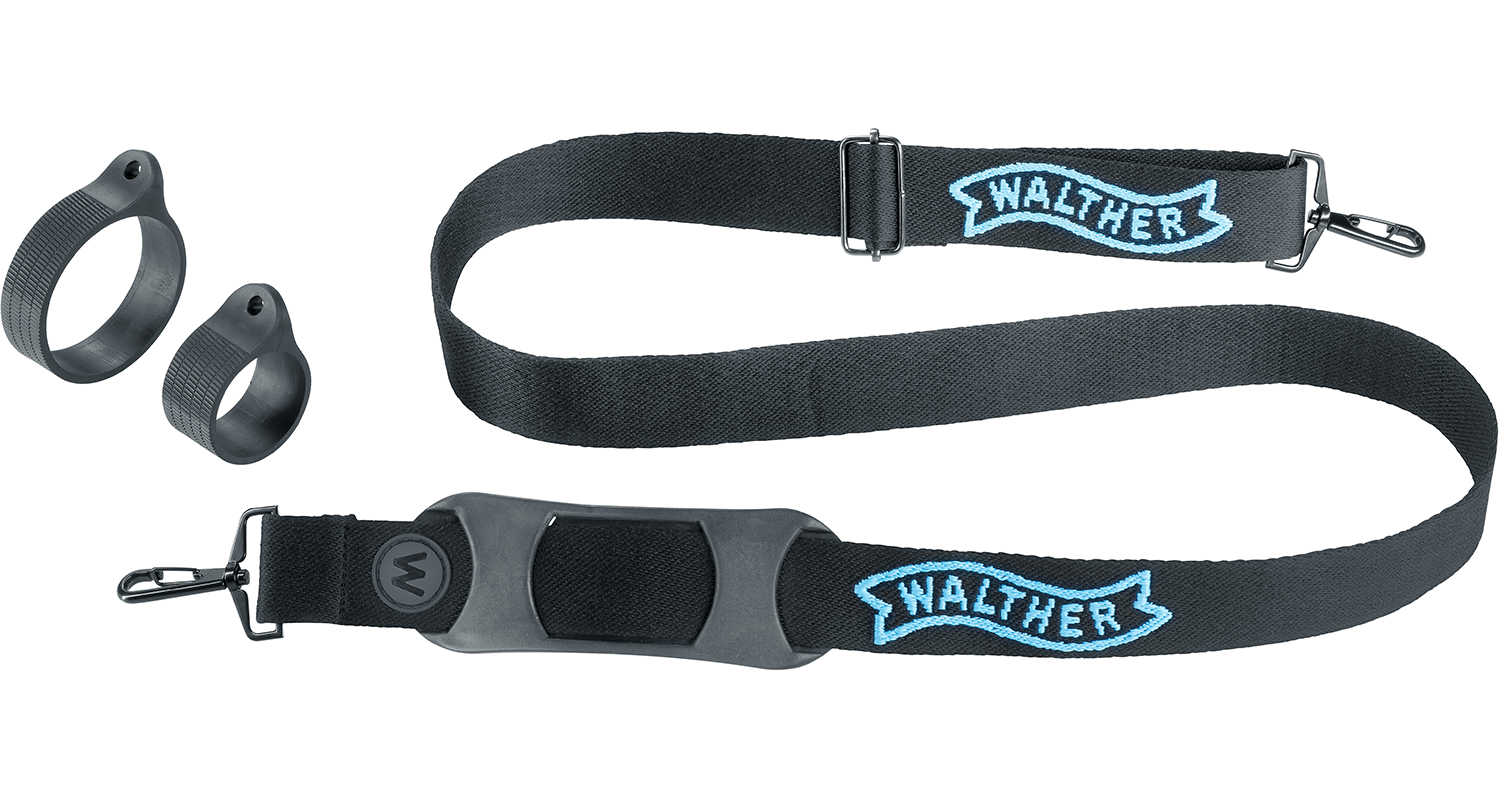 Walther Pro XL8000r includes shoulder carry strap