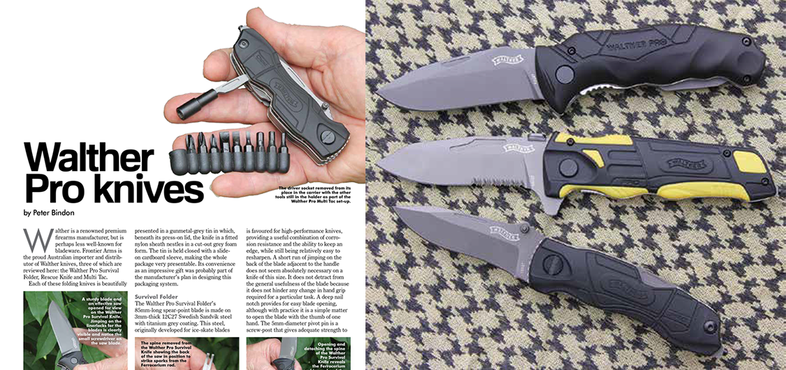 Walther Pro Survival Folder, Rescue Knife and Multi Tac review